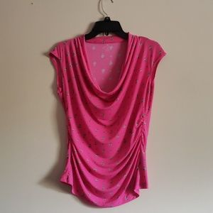3/$25 Pink Sleeveless Top By Worthington, Size PM